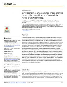 Development of an automated image analysis protocol for ... - PLOS