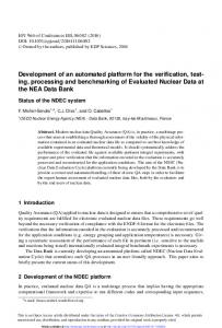 Development of an automated platform for the verification, testing ...