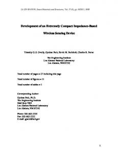 Development and Implementation of an Impedance