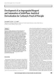 Development of an Impregnated Reagent and Automation of Solid ...