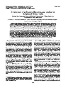 Development of an Improved Selective Agar Medium for Isolation of ...
