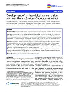 Development of an insecticidal nanoemulsion with ... - CyberLeninka
