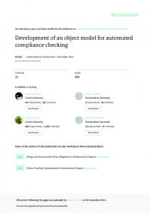 Development of an object model for automated
