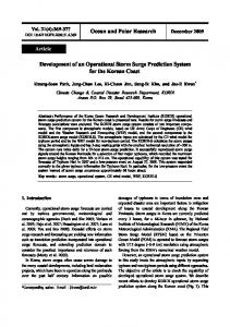 Development of an Operational Storm Surge Prediction System for the ...