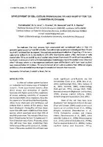 Development of cell culture from caudal fin and ... - Aquatic Commons