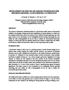 development of chilled air cooling technology for precision ... - CiteSeerX