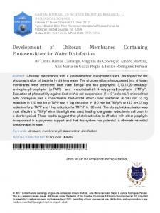Development of Chitosan Membranes Containing ... - Global Journals