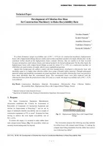 Development of Chlorine-free Hose for Construction Machinery to ...