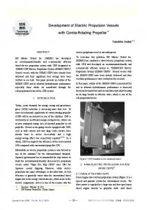 Development of Electric Propulsion Vessels with Contra ... - J-Stage
