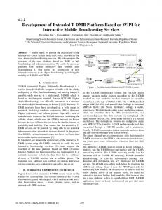 Development of Extended T-DMB Platform Based on ... - IEEE Xplore