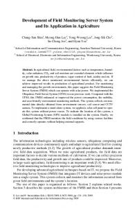 Development of Field Monitoring Server System and Its Application in ...
