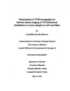 Development of FTIR tomography for thermal-source