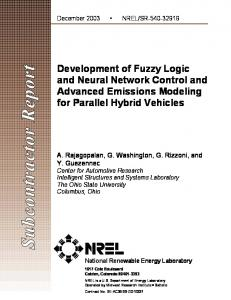 Development of Fuzzy Logic and Neural Network Control and ...