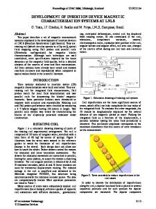 Development of Insertion Device Magnetic Characterization Systems