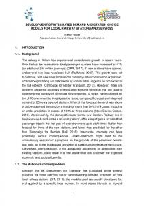 DEVELOPMENT OF INTEGRATED DEMAND AND ... - ePrints Soton