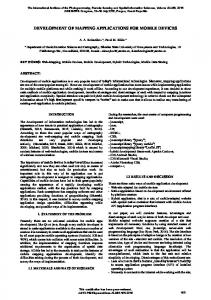 development of mapping applications for mobile ... - ISPRS Archives