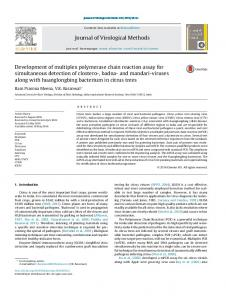 Development of multiplex polymerase chain reaction assay for ...