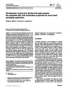 Development of polyvinyl alcohol and apple pomace