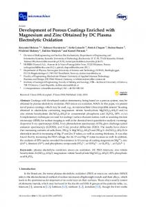 Development of Porous Coatings Enriched with Magnesium and Zinc