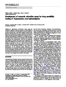 Development of resazurin microtiter assay for drug ... - Springer Link