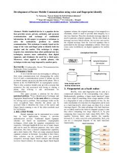 Development of Secure Mobile Communication using ...