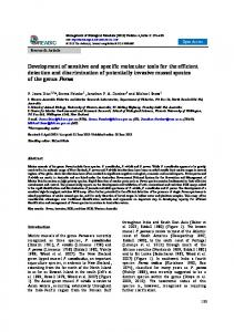 Development of sensitive and specific molecular tools - reabic