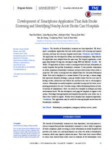 Development of Smartphone Application That ... - KoreaMed Synapse