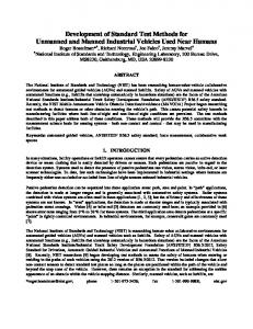 Development of Standard Test Methods for Unmanned and ... - NIST