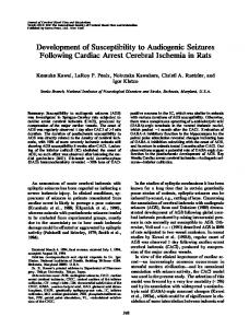 Development of Susceptibility to Audiogenic ...