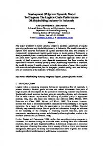 Development of System Dynamic Model to Diagnose the Logistic ...