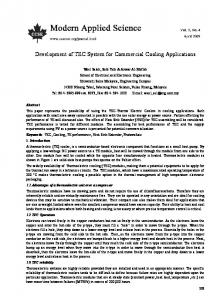 Development of TEC System for Commercial Cooling Applications