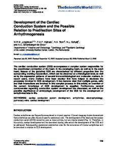 Development of the Cardiac Conduction System and ...