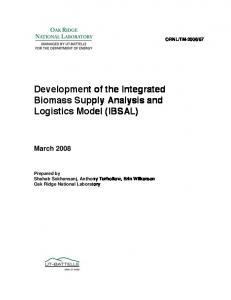 Development of the Integrated Biomass Supply Analysis - wiki.ornl.gov