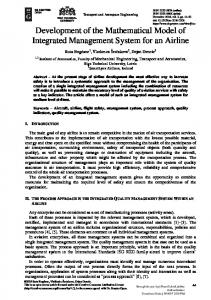 Development of the Mathematical Model of Integrated