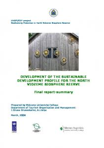 DEVELOPMENT OF THE SUSTAINABLE ...