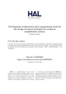 Development of theoretical and computational tools for the design of ...