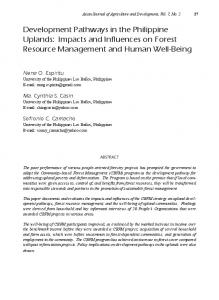 Development Pathways in the Philippine Uplands ... - AgEcon Search