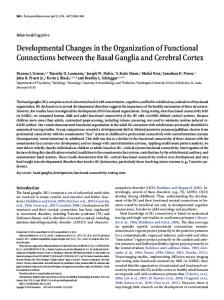 Developmental Changes in the Organization of Functional ...