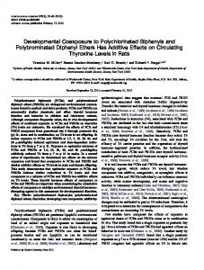 Developmental Coexposure to Polychlorinated Biphenyls and ...