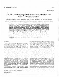 Developmentally regulated chromatin acetylation and histone H1 ...