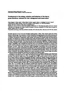 Developments in the ecology, evolution, and behaviour of the charrs ...