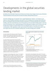Developments in the global securities lending market - Bank of England