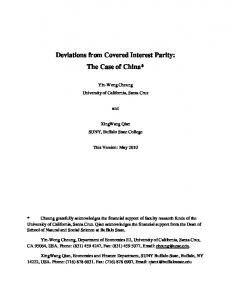 Deviations from Covered Interest Parity: The Case of China*