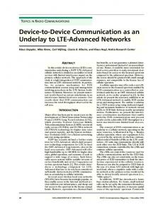 Device-to-Device Communication as an Underlay to LTE-Advanced ...