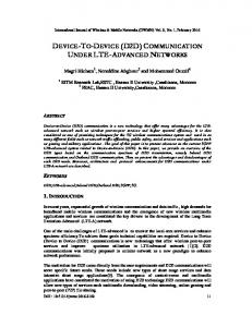device-to-device (d2d) communication under lte-advanced networks