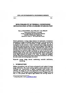 dewaterability of thermal conditioned sewage sludge after anaerobic