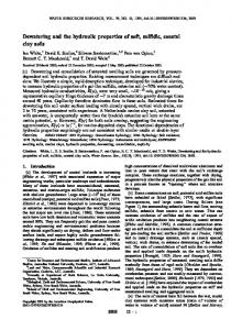 Dewatering and the hydraulic properties of soft ... - Wiley Online Library