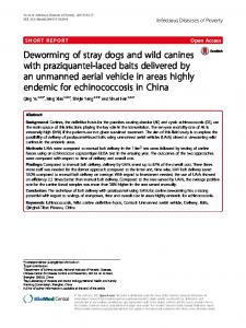 Deworming of stray dogs and wild canines with praziquantel-laced ...