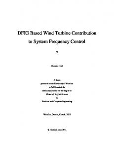 DFIG Based Wind Turbine Contribution to System Frequency Control