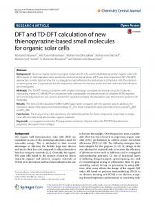 DFT and TD-DFT calculation of new thienopyrazine-based small ...